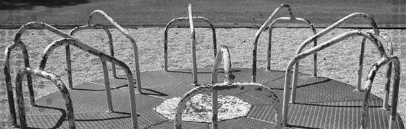 Photo of a carousel at a playground