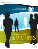 Cover of the brochure Giving a Voice to Victims